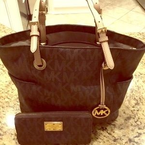 Michael Kors Jet Set Tote and Wallet